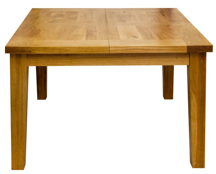 Table carree table carree chene massif allonge porte for Table d exterieur avec rallonge