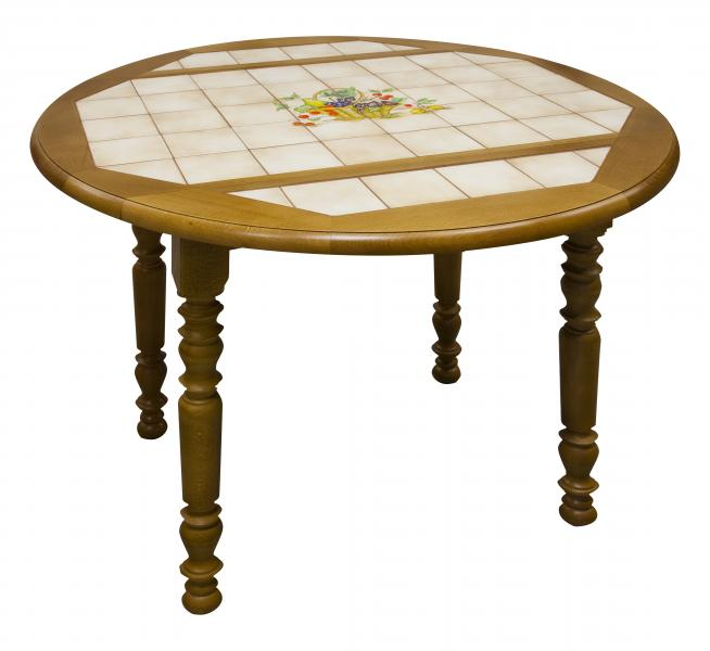 Table ronde carrel e volets - Table ronde de cuisine ...