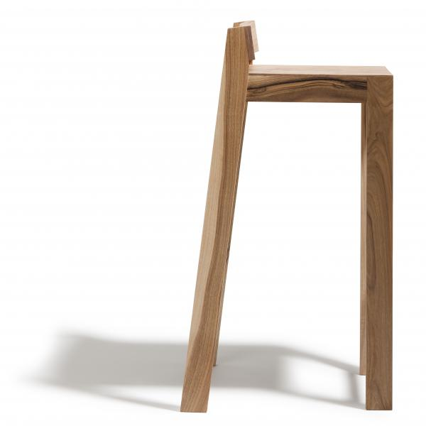 Tabouret haut de bar design empilable pilpil en ch ne massif - Tabouret bar design bois ...